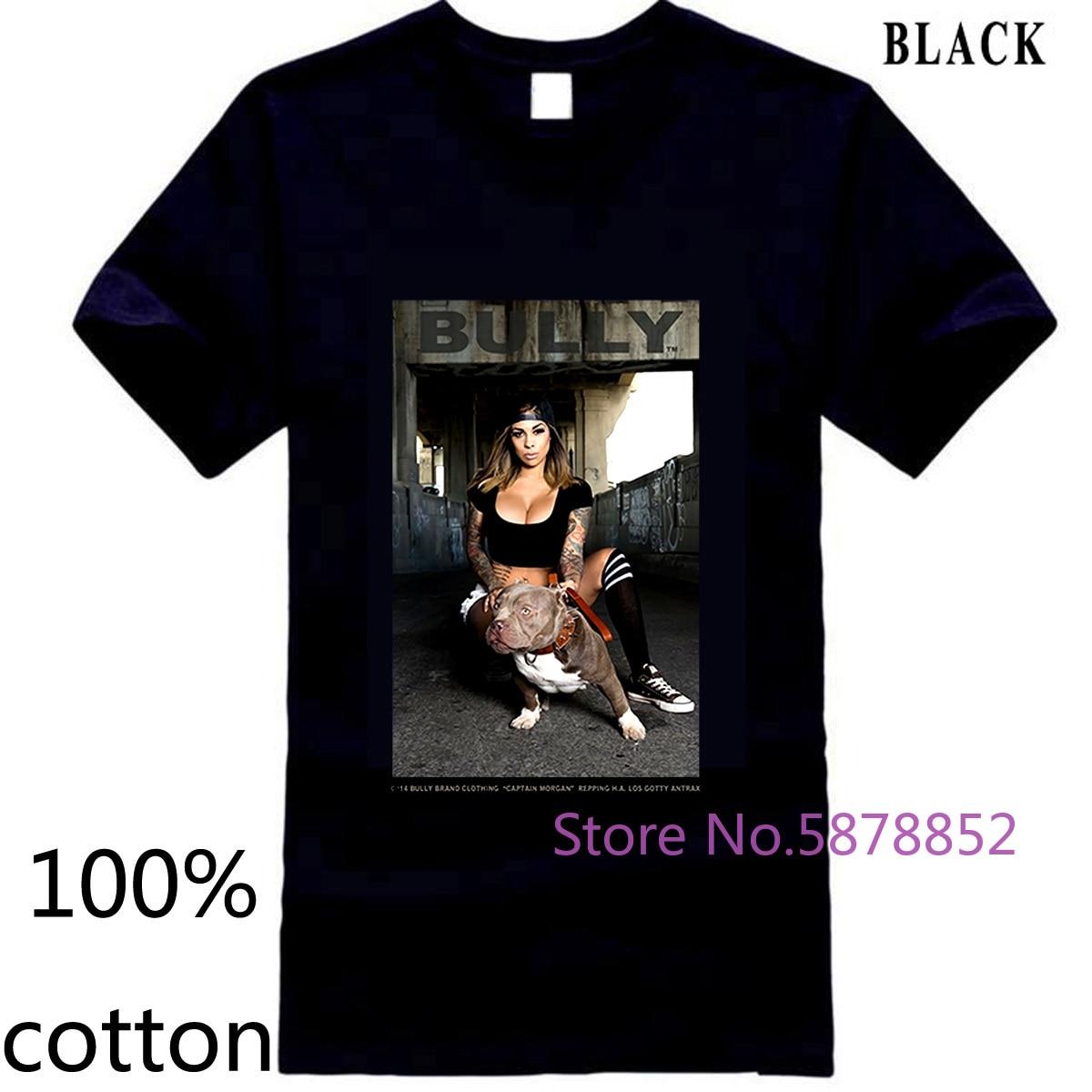 Capitán Morgan Pitbull perro perrera Club King Bully David Gonzales DGA hombres imprimir camiseta de los hombres camisetas tops 100% algodón