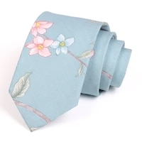 mens floral jacquard tie 2020 new 7cm cotton ties for men high quality fashion formal neck tie great for business party necktie
