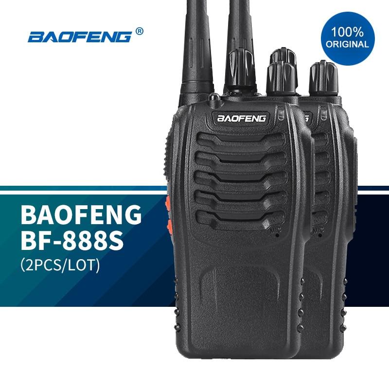Рация BAOFENG BF-888S, 2 шт., оригинальная рация, УВЧ рация, рация дальнего радиуса действия для охранников, рация Baofeng 888s рация vector vt 44 master