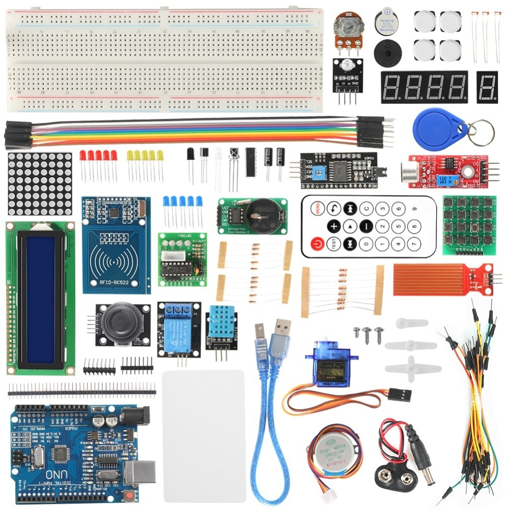 Rfid Starter Kit For Arduino Uno R3 Improved Version Learning Suite With Retail Box недорого