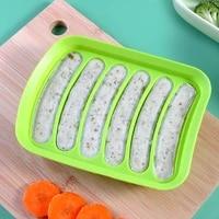 lohas kitchen sausage maker mould 6 grids silicone diy ham hot dog making mould household sausages cake baking tools molds