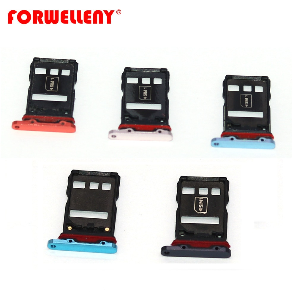 For huawei P30 pro Micro Sim Card Holder Slot Tray Adapters black blue VOG-L09, VOG-L29