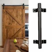 black carbon steel country barn sliding door pull cabinet flush vintage hardware set wood door handle interior furniture handle