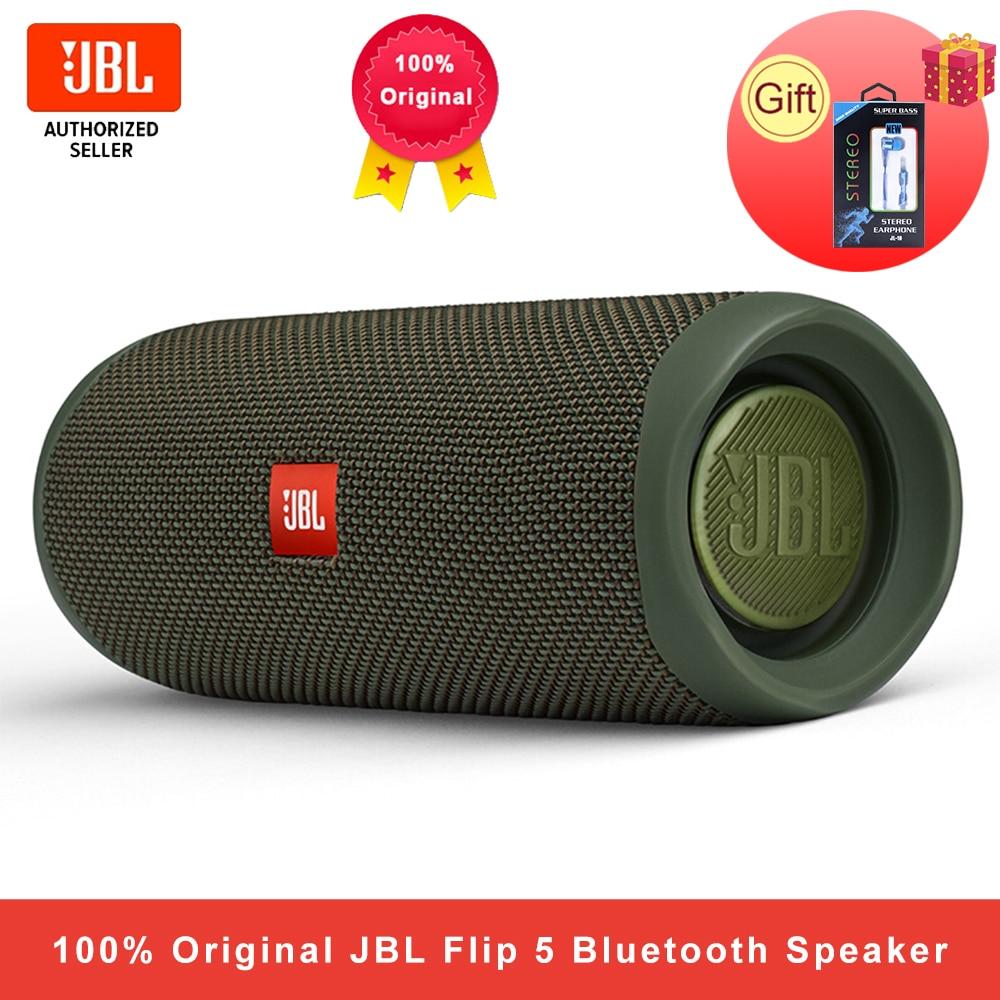 الأصلي JBL الوجه 5 بلوتوث المتكلم مصغرة المحمولة IPX7 للماء اللاسلكية في الهواء الطلق ستيريو باس الموسيقى JBL FLIP5
