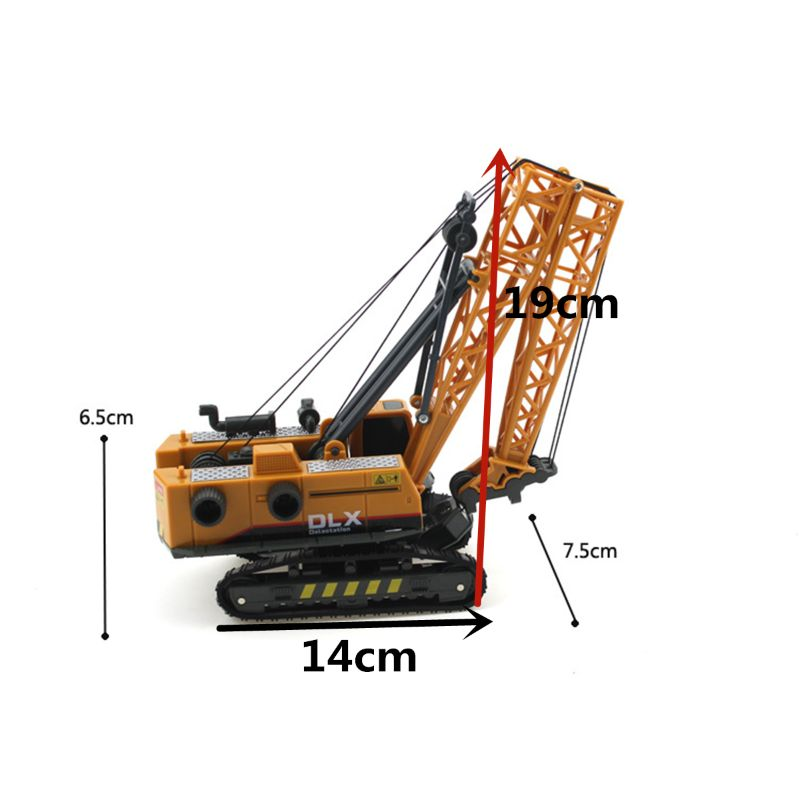 Crane Toy Construction Vehicle 1:50 Diecast Engineering Toys Truck Tractor High Simulation Boys Machine Model Toys For C kid model toys 1 50 scale engineering vehicle truck car model 140m3 motor grader high line series 85544 diecast model toys