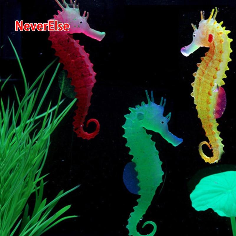 AliExpress - Aquarium Fish Tank Decorative Ornament Artificial Hippocampus Red/Green/Orange Fluorescent Floating Waterscape Underwater home