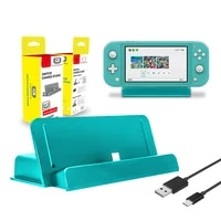 usb type c charging stand fast charger for nintendo switch lite game console charger base holder for n switch lite dock station