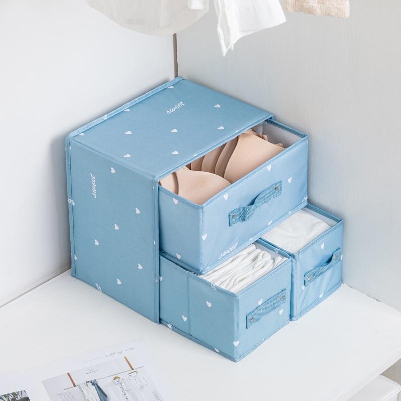 درج نوع صندوق تخزين ملابس صندوق ، حمالة الصدر الجوارب الملابس الداخلية المنظم ، غرفة خزانة درج تخزين ، طوي الملابس الداخلية درج المنظم