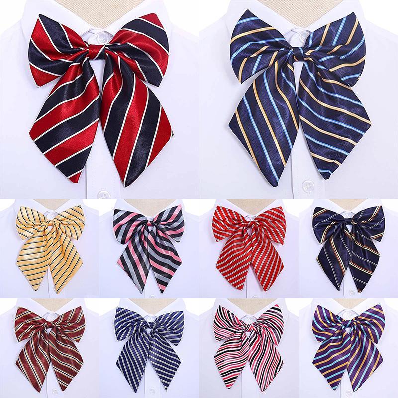 Новые корейские женские галстуки-бабочки, винтажные полосатые галстуки-бабочки, шелковая стюардесса, галстук-бабочка, аксессуары для одежд...