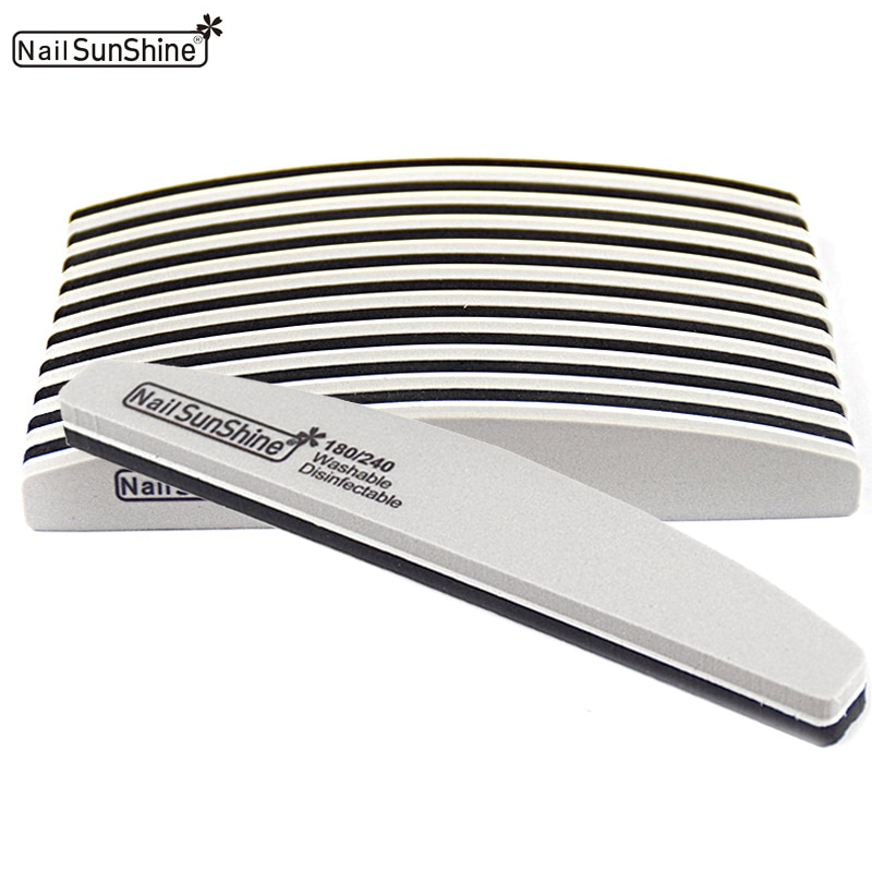 50 pçs lavável esponja arquivo de unhas buffer 180/240 limas lixa unhas arquivos polimento moagem manicure pedicure unhas buffer ferramentas