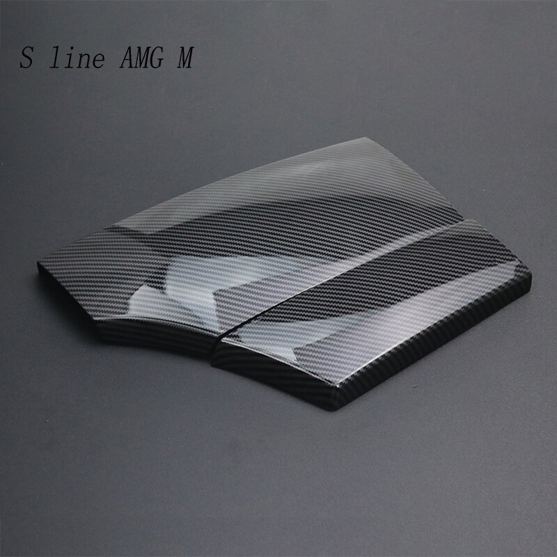Car styling For BMW 5 Series E60 Carbon fiber Center Console Stowing Tidying Armrest box protect stickers cover Trim Accessories enlarge