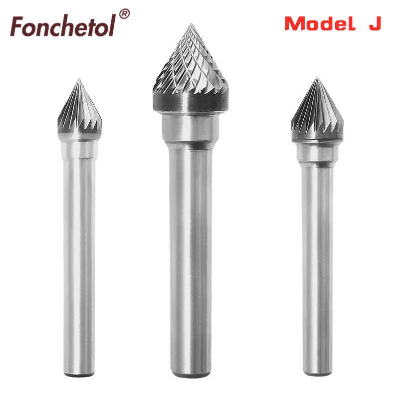 1pcs Free Verzending 6mm Schacht Diameter Vhm Type J Rotary Tungsten Staal Cilindrische Slijpen Tool Metalen Plastic Frees Aliexpress