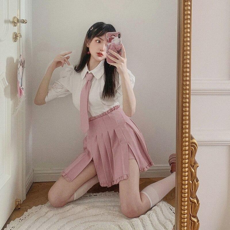 Princesa doce lolita shorts bobon21 doce e salgado sexy plissado jk uniforme divisão shorts colagem vento estudantes shorts b1867