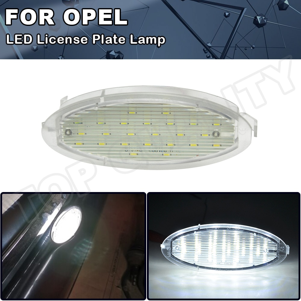 1 stücke Canbus Xenon Weiß Klar Auto LED Anzahl License Platte Licht Lampe Für OPEL Zafira Astra G Caravan CC coupe Leder-kasten Stufenheck