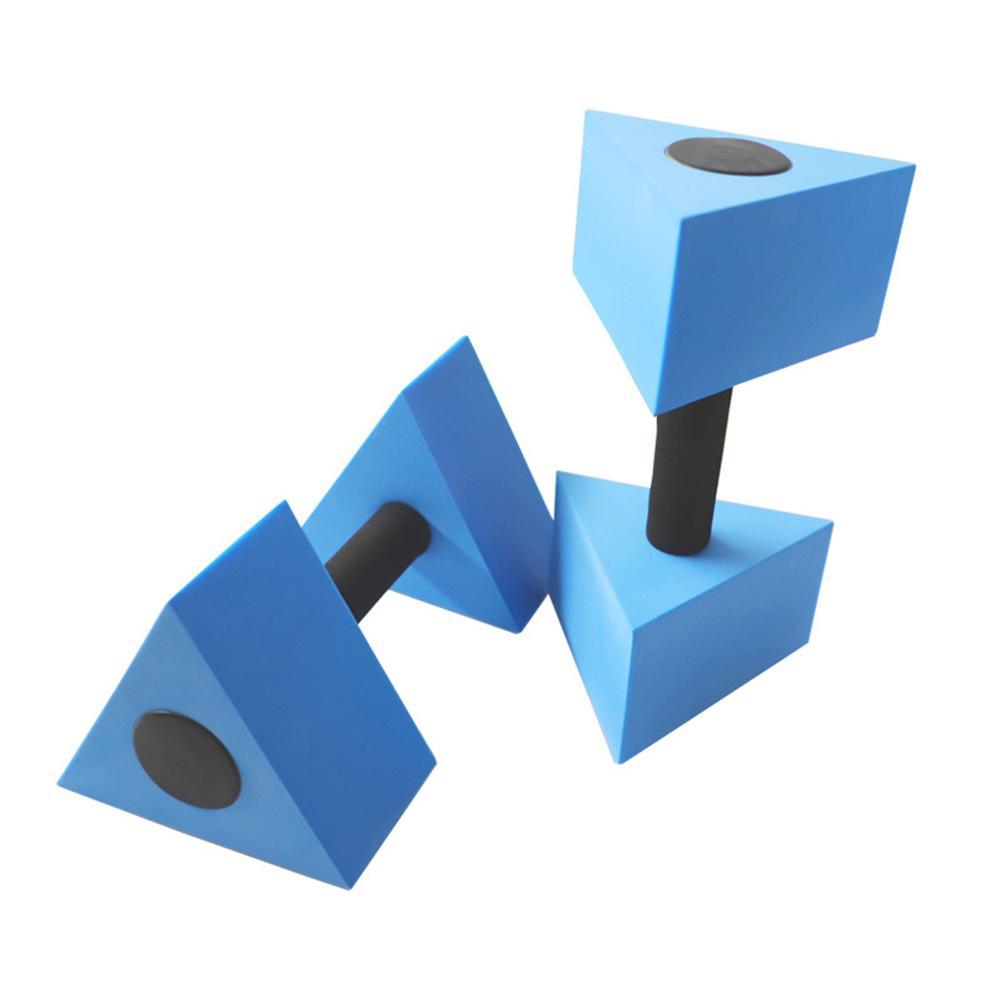 Dumbells de Água Par de Piscina Halteres Triangular Exercício Aquático Dumbells Peso Leve Confortável Mão Sentir 1