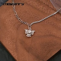 mewanry 925 sterling silver sweater necklace for women fashion vintage party creative cute baby elephant jewelry birthday gifts