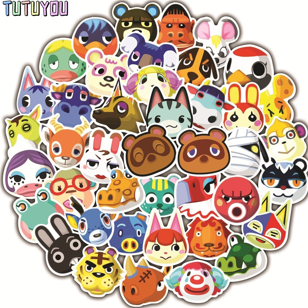 PC2110 50pcs/set Animal Creative DIY Decorative Stickers Cartoon Style For PC Wall Notebook Phone Case