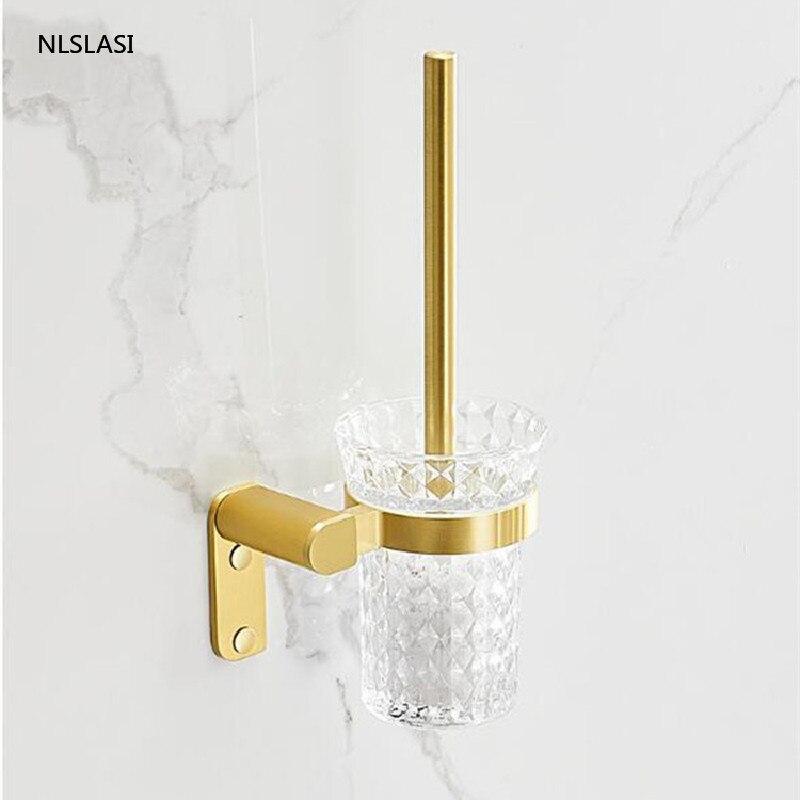 لكمة خالية الذهبي سبائك الألومنيوم المنزل الحمام حامل ورق المرحاض المرحاض فرشاة حامل اكسسوارات الحمام المرحاض السلطانية فرشاة