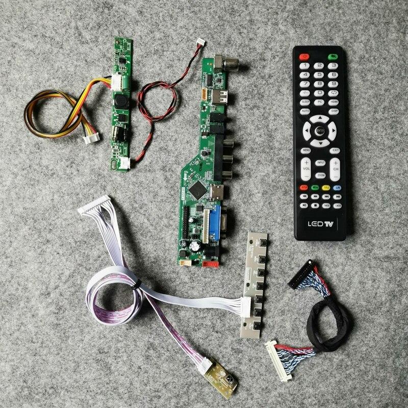 لوحة تحكم بمراقب مجموعة اصنعها بنفسك 60 هرتز WLDE LVDS 30 دبوس تناسب LM215DB/LM215DT1A/5A/6A/7A/8A/9A 1920*1080 LCD مصفوفة VGA AV USB