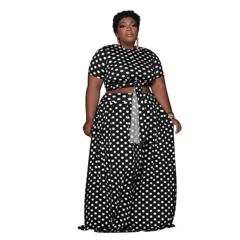 Модный повседневный комплект из двух предметов в горошек, Женский Стильный костюм, женская уличная одежда, модная женская одежда, Прямая по...