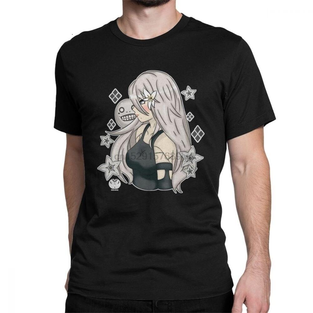 Mens Neir Automata A2 T Shirt Japan Anime Otaku Games Pure Cotton Clothes Funny Short Sleeve Tee Shirt Birthday Gift T-Shirt