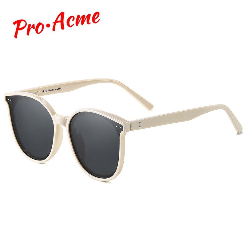 Gafas de sol redondas de gran tamaño de lujo Pro Acme, gafas de sol Retro de diseño de marca polarizada para conducir zonnebril heren PC1548