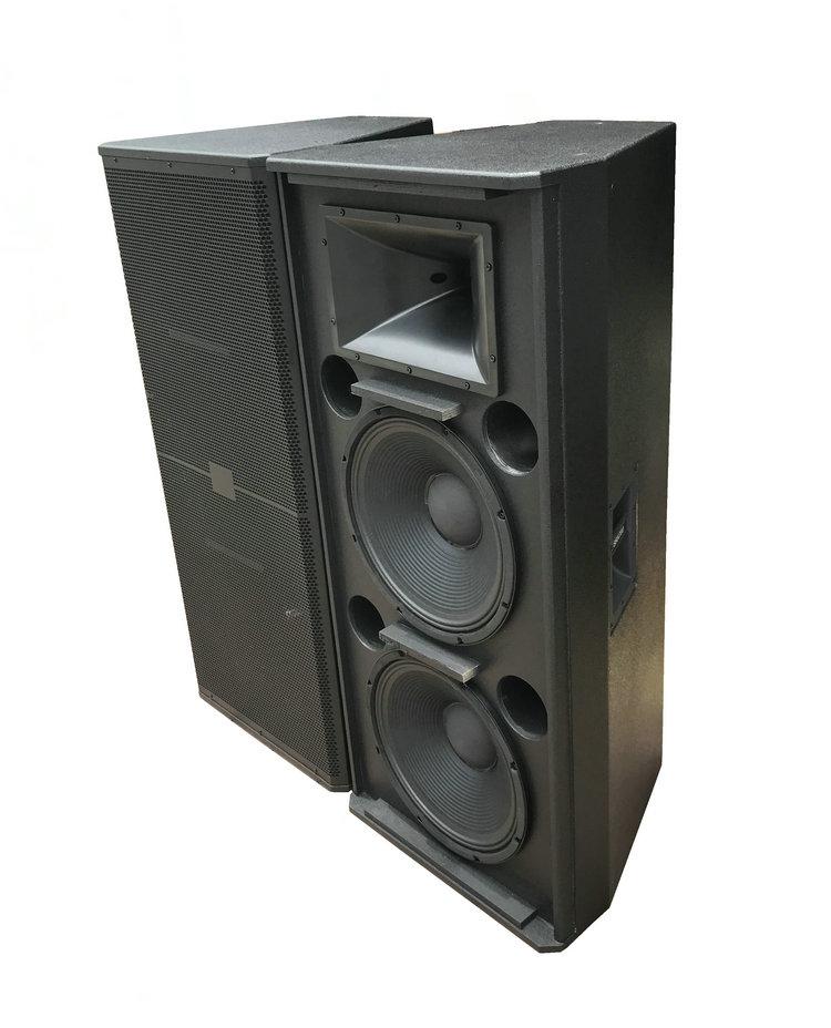 QE-002 profissional de áudio caixa de alto-falante vazio dupla 15 Polegada unidades woofer fácil instalação boa qualidade embalagem profissional