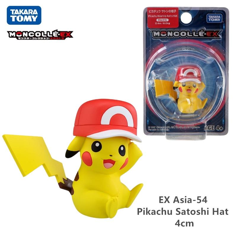 TAKARA TOMY Genuine Pokemon Figurines Anime Sword and Shield Sun & Moon Pikachu Mew Raichu Action Figure Model Toys Kids Gift