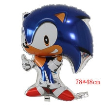50pcs Classic Toys Inflatable The Hedgehog Sonic Balloon Party Decoration Mylar Balloons Cartoon Helium Balloons Boys Toy Globos