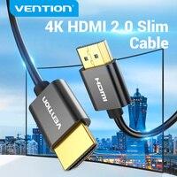 HDMI кабель Vention Slim, 4K, 3D, Ultra HD, HDMI 2,0, для Xbox PS3/4 ПК, монитор Nintendo Switch, проектор HDTV, HDMI кабель Slim 4K/60 Гц