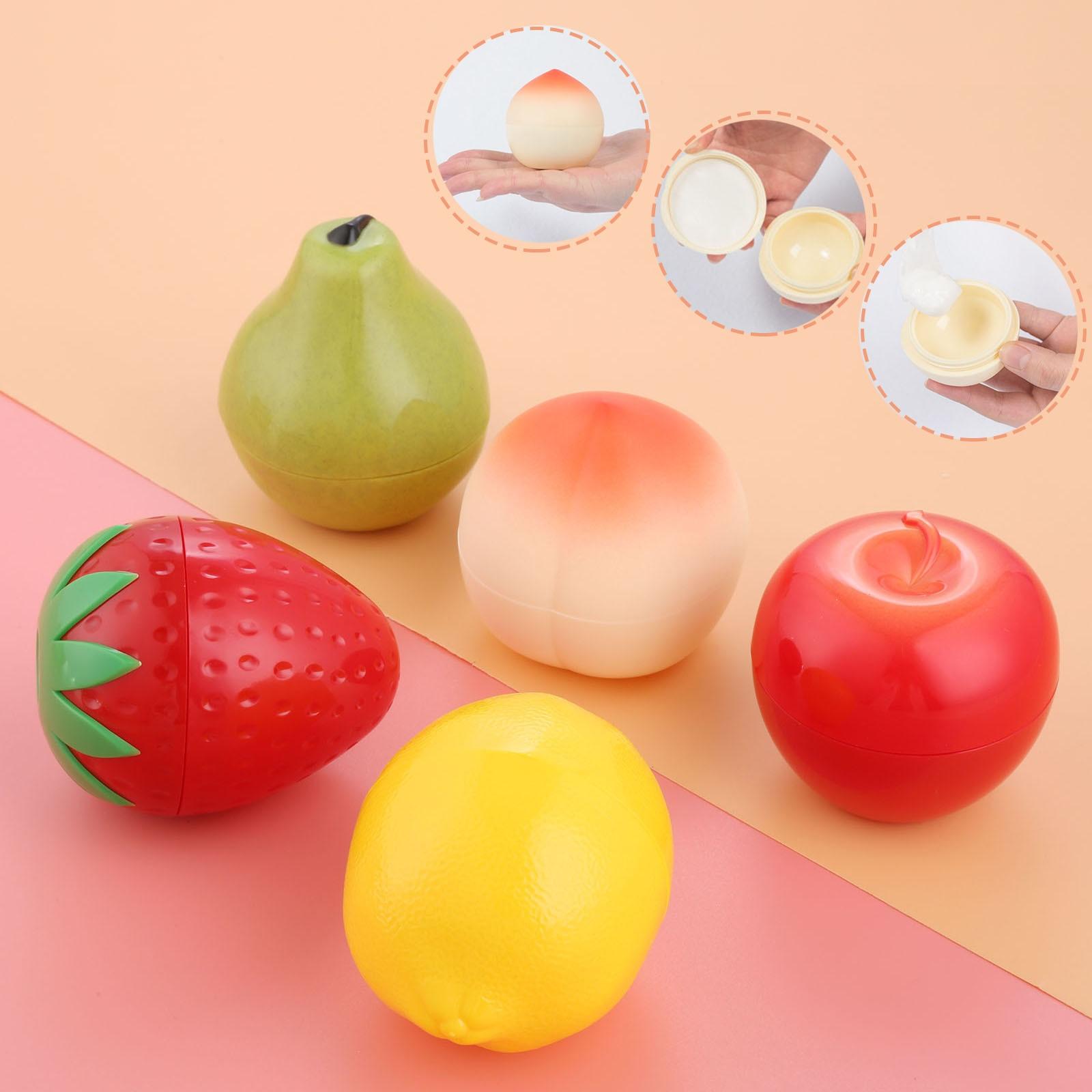 Frasco de crema de plástico vacío, envase cosmético de pera, melocotón, manzana, fresa, frasco forma fruta crema y fruta, botella vacía de viaje, 1 unidad