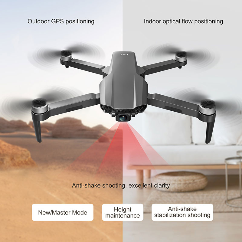 FEMA Drone with Camera Hd 8K GPS Profesional Long Distance 5G WiFi FPV Brushless Smart Follow S106 RC Quadcopter Dron PK LU3 MAX enlarge