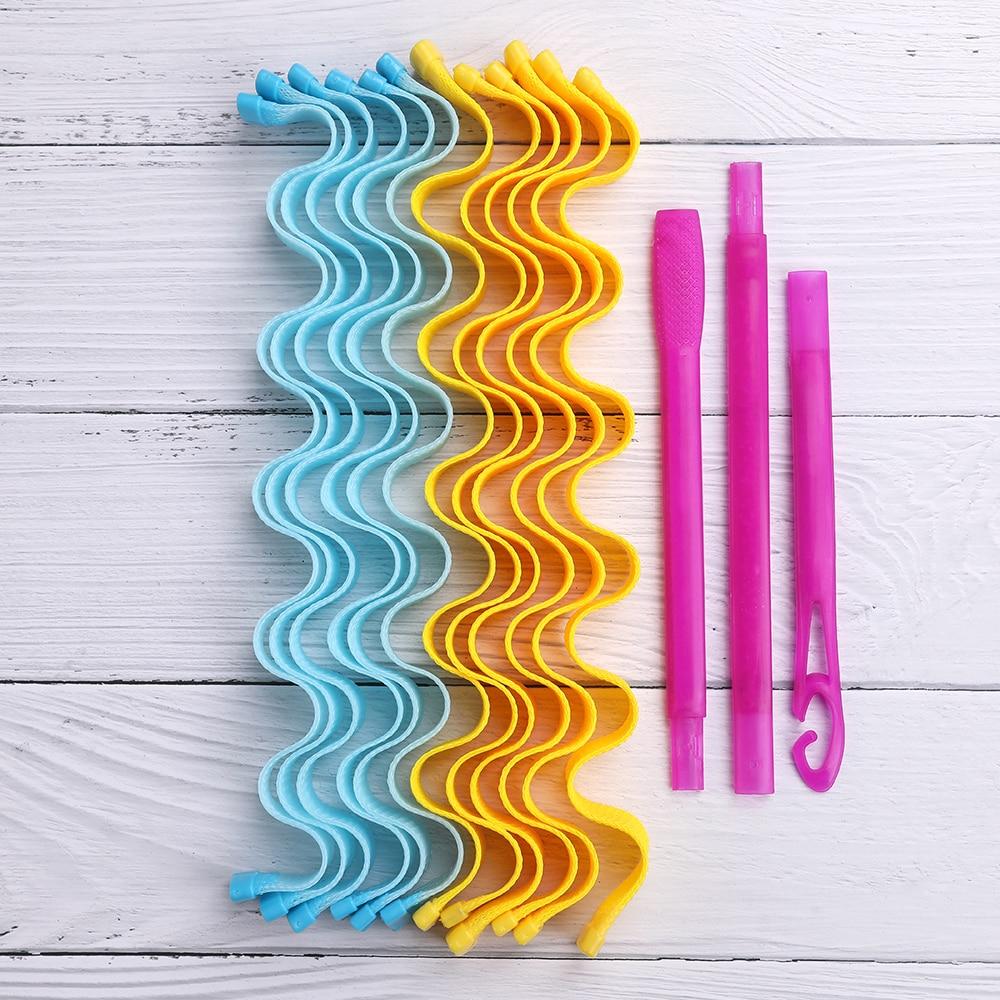 Magic Curling Curler 12Pcs / 24Pcs DIY Portable Curling Lrons Wave Curling Lrons Durable Beauty Make
