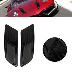 2Pcs Air Outlet Frame Trim Soft Fashion Black Self-adhesive Air Outlet Frame Trim for Outdoor