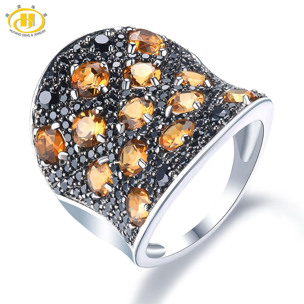 الإسبنيل السترين الطبيعي 4.5 قيراط ، خواتم من الفضة الإسترليني عيار 925 ، أحجار كريمة طبيعية 100% ، مجوهرات كلاسيكية أنيقة للنساء