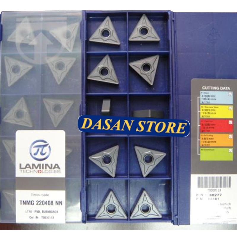 TNMG220408 NN LT10 insertos de carburo Original TNMG 220404 herramienta de torneado CNC de hoja de torno de alta calidad