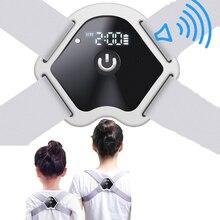 LCD Screen Posture Corrector Adjustable Smart Voice Reminder Posture Brace Hunchback Correction Back