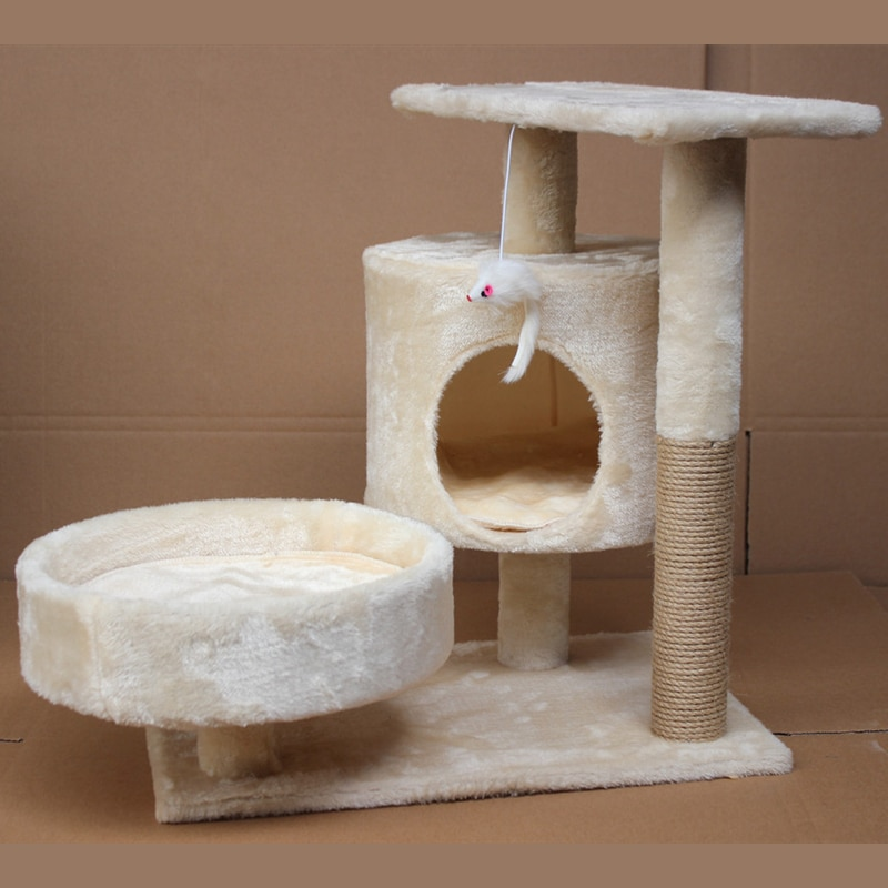 Cat Climbing Frame Pets Play Tree Scratching Tree Cat Scratching Post Tree Furniture Gym House Toy Cat Jumping Platform