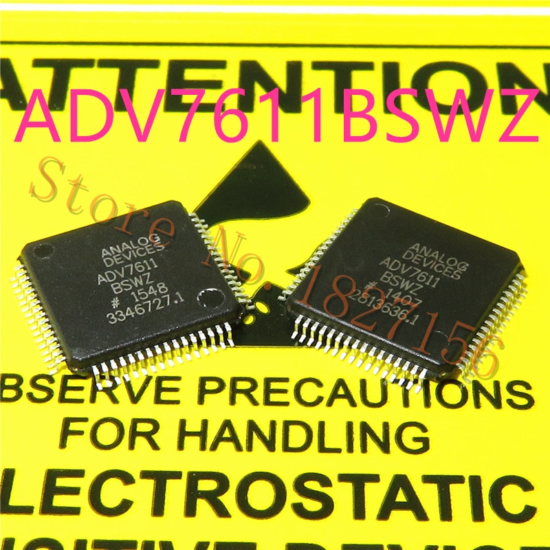 1 unids/lote ADV7611BSWZ ADV7611BSW ADV7611 LQFP64 de baja potencia 165 MHz HDMI receptor