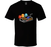 Erkek t-shirt hayalet avcıları pacman cenaze. fgx T gömlek (100) tshirt kadın t Shirt