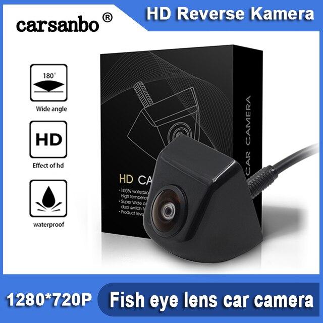 HD 180 grados lente ojo de pez luz de estrella visión nocturna vehículo vista trasera cámara de marcha atrás nivel de luz baja 15m CÁMARA DE COCHE visible