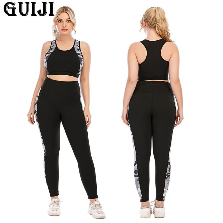 [Guiji】ready Stock 2021 женская спортивная одежда, комплект для йоги, тренировочная одежда, спортивная одежда, спортивные Леггинсы для спортзала, Бес...