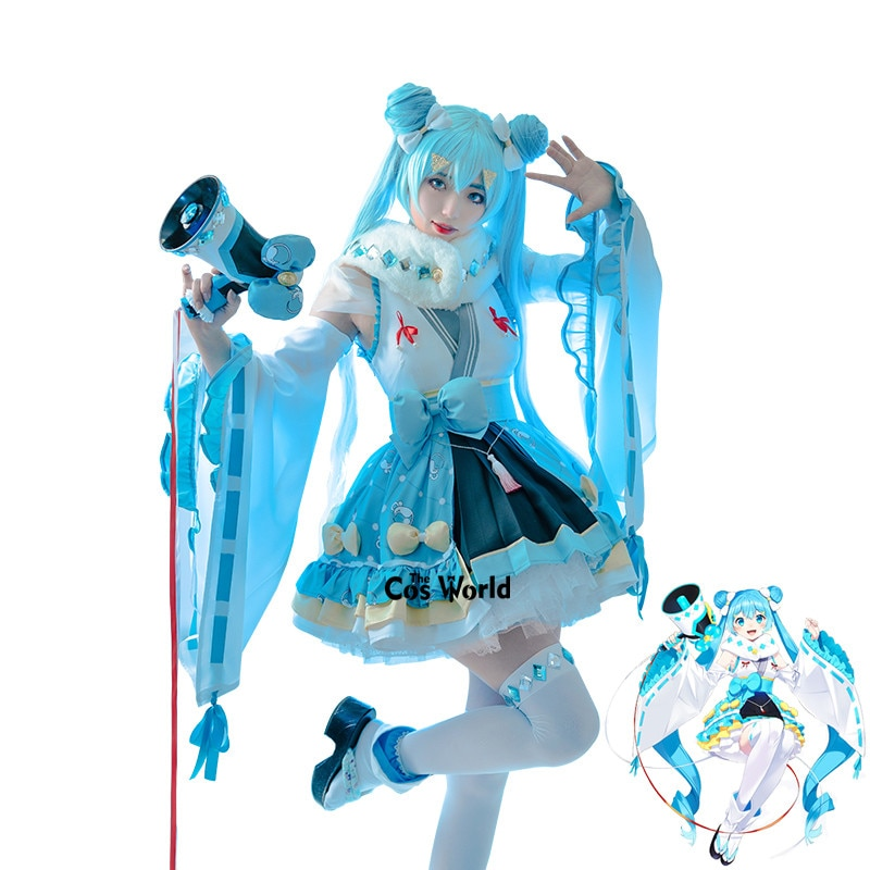 Preventa 2020 ratón del año Vocaloid Hatsune Miku Kimono Yukata vestido traje Anime Cosplay disfraces