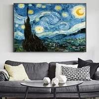 van gogh starry night landscape famous impressionist wall paintings reproductions wall art canvas prints home decor