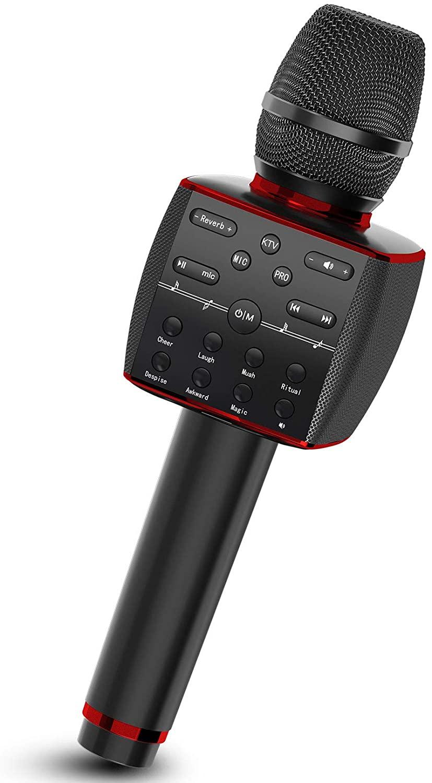 ميكروفون لاسلكي كاريوكي المهنية نظام الميكروفون الديناميكي المحمولة بلوتوث يده آلة الغناء للهاتف المنزل KTV الطرف