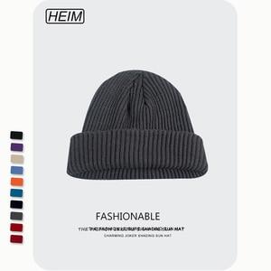Knitted Beanie Women's Hat Winter Men Skullies Beanies Warm Casual Slouchy Hat Crochet Beanie Hat Female Baggy Cap Cheap
