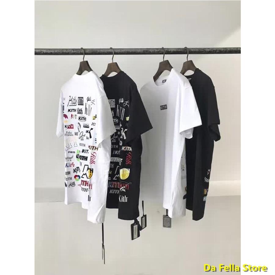 2020 voltar logotipo completo kith camiseta frente clássico kith box logo t-shirts artístico fonte impressão t segunda-feira programa série topos 11 tag