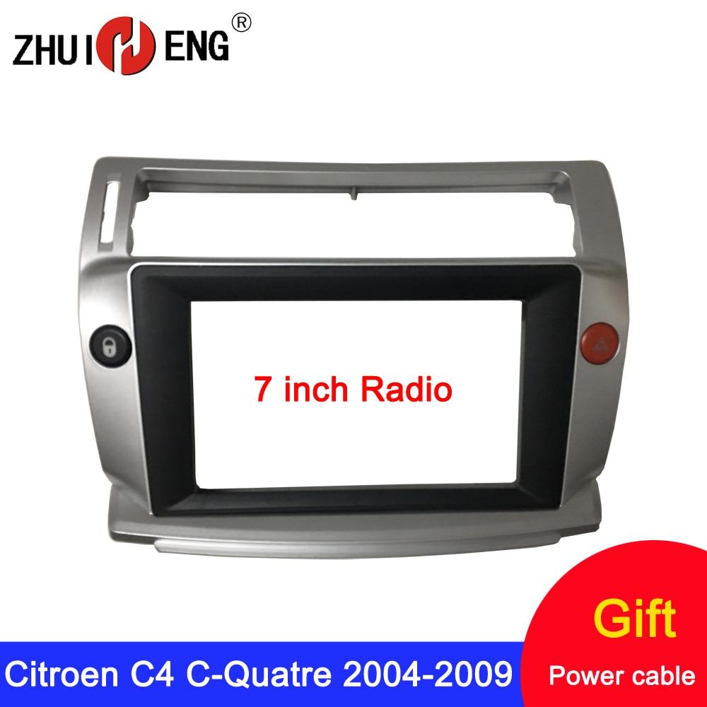 7/9 inch 2 Din Car Radio Frame for Citroen C4 C-Triomphe C-Quatre 204-2009 fascia Car DVD GPS Player mount kit car accessory