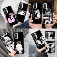 smartphone case for xiaomi mi poco x3 nfc m3 10t pro 9t 11 cc9 note 10 a2 lite soft phone cover sac sad japanese anime aesthetic