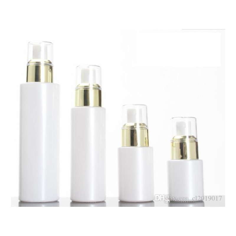 15 30 50g pérola branco acrílico airless jar redondo cosméticos creme frasco bomba garrafa de embalagem cosmética